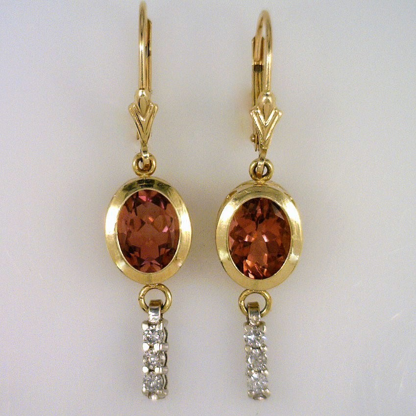 Pink maine tourmaline earrings mainestone jewelry for Lindenwold fine jewelers jewelry showroom price